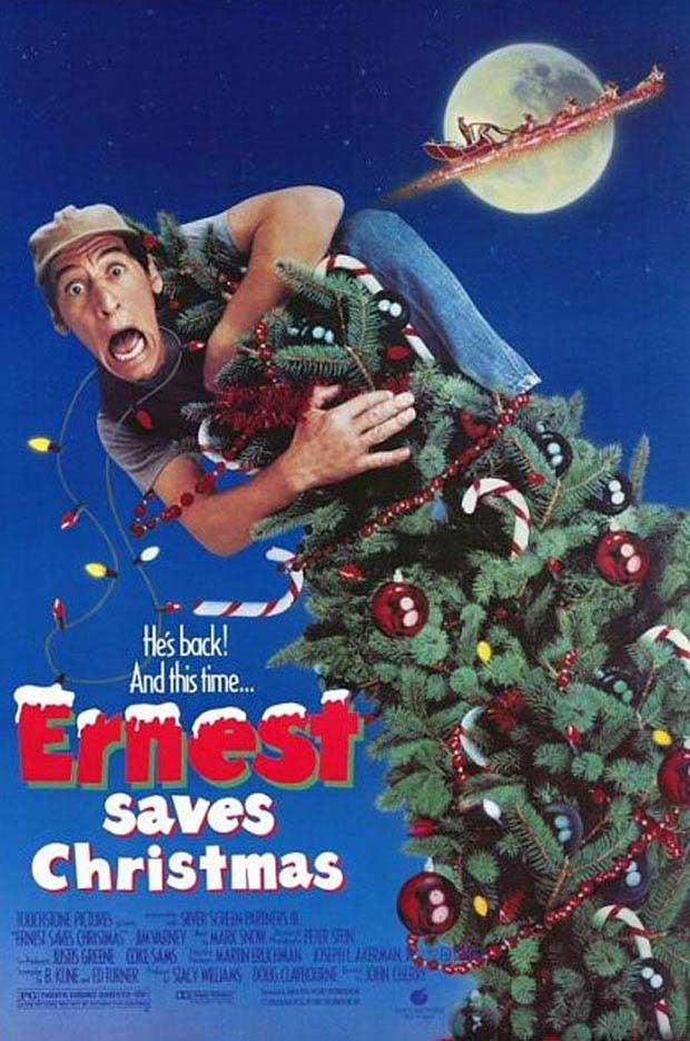 Poster Jim Varney - Ernest Saves Christmas