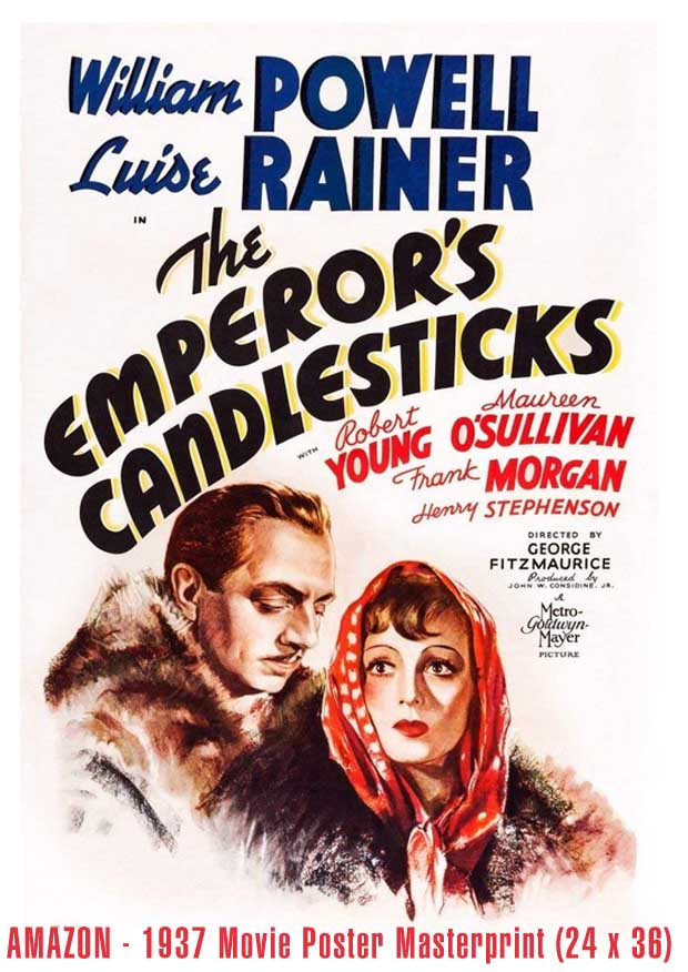 The Emperors Candlesticks 1937 AMAZON poster ART