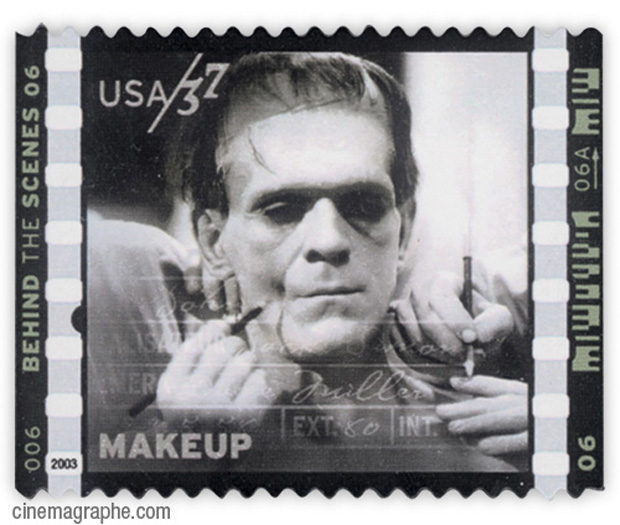 Makeup Boris Karloff Stamp