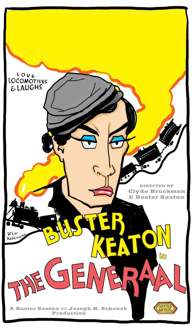 The General Buster Keaton - poster artwork - after Rudemann