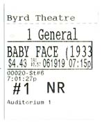 BABY FACE TICKET