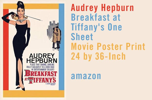 Audrey Hepburn Poster Breakfast at Tiffanys
