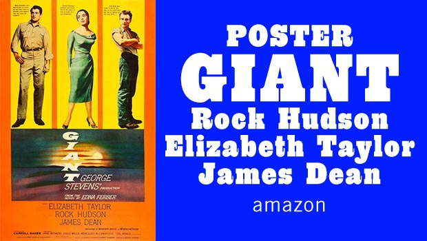 GIANT movie with Rock Hudson poster Image